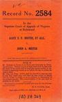 Alice S.F. Mister, et al. v. John A. Mister