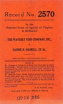 The Waverly Feed Company, Inc. v. Cannie B. Harrell, et al.