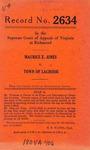 Maurcie E. Jones v. Town of Lacrosse