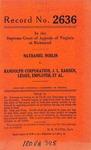 Nathaniel Noblin v. Randolph Corporation, J.L. Rarden, Lessee, Employer, et al.