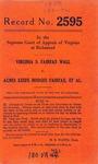 Virginia S. Fairfax Wall v. Agnes Keefe Hodges Fairfax, et al.