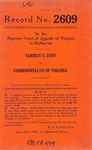 Earnest C. Cody v. Commonwealth of Virginia