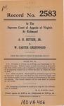 A.R. Butler, Jr., v. W. Carter Greenwood