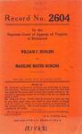 William F. Hudgins v. Madeline Mister Hudgins