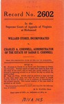 Willard Stores, Inc. v. Charles A. Cornnell, Administrator of the Estate of Sarah E. Cornnell