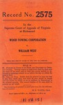 Wood Towing Corp. v. William West