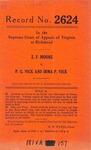 Z.F. Moore v. P.G. Vick and Irma P. Vick