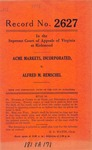 Acme Markets, Inc. v. Alfred M. Remschel