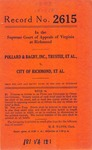 Pollard&Bagby, Inc. , Trustee, et al., v. City of Richmond, et al.
