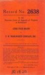 Luise Rick Brann v. F. W. Woolworth Company , Inc.