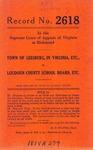 Town of Leesburg, in Virginia, etc.,  v.  Loudoun County School Board, etc.