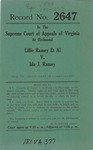 Lillie Ramey, et al., v. Ida J. Ramey