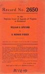 William D. Lipscomb v. B. Monroe O'Brien