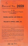 Virginia Electric and Power Company v. William W. Bowers, Administrator, etc.