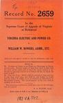 Virginia Electric and Power Company  v.  William W. Bowers, Administrator, etc.
