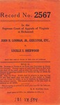 John H. Lohman, Jr., Executor, etc., v. Lucille S. Sherwood
