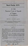 Bertha T. Johnson v. First National Exchange Bank of Roanoke