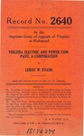 Virginia Electric and Power Company v. Leroy W. Evans