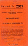 Joseph Gordon Anglin v. C.F. Joyner, Jr., Commissioner, Division of Motor Vehicle