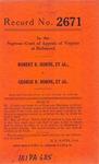Robert R. Horne, et al., v. George R. Horne, et al.