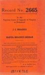 J.G. Broaddus v. Martha Broaddus Gresham