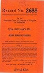Tessa Lewis, Administratrix of the Estate of G. F. Stroebel, etc., v. Jennie Burrus Stroebel
