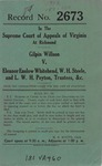 Gilpin Willson v. Eleanor Enslow Whitehead, W. H. Steele, and L. W. H. Peyton, Trustee, etc.