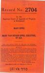 Mary Eppes v. Mary Van Duesen Eppes, Executrix, etc., et al.