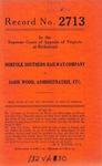 Norfolk Southern Railway Company v. Sadie Wood, Administratrix, etc.