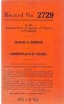Leonard R. Robinson v. Commonwealth of Virginia