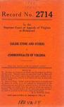 Goldie Stone, et al. v. Commonwealth of Virginia