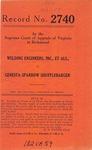 Welding Engineers, Inc., et al. v. Genesta Sparrow Shufflebarger