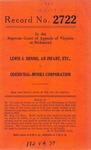 Lewis S. Dennis, an Infant, etc. and John Lewis Dennis v. Odend'Hal-Monks Corporation