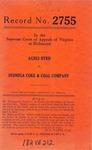 Agnes Byrd v. Stonega Coke & Coal Company
