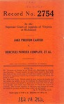 Jake Preston Carter v. Hercules Powder Company, et al.