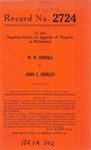 W. W. Spruill v. John C. Shirley