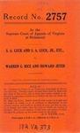 S. A. Luck and S. A. Luck, Jr., etc. v. Warren G. Rice and Howard Jeter