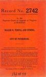 Maggie H. Temple, et al. v. City of Petersburg