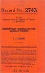 Unemployment Compensation Commission of Virginia v. L. E. Collins