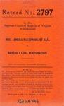Mrs. Almeda Baltimore, et al. v. Benedict Coal Corp.