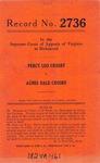Percy Leo Crosby v. Agnes Dale Crosby