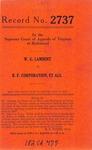 W. G. Lambert v. B. F. Corporation, et al.
