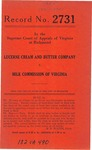 Lucerne Cream and Butter Company v. Milk Commission of Virginia