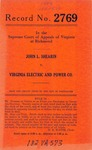 John L. Shearin v. Virginia Electric and Power Company