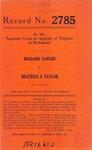 Richard Taylor v. Beatrice J. Taylor
