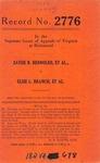 Zayde B. Rennolds, et al. v. Elsie L. Branch, et al.