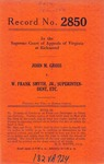 John M. Gross v. W. Frank Smyth, Jr., Superintendent, etc.