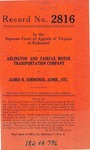 Arlington and Fairfax Motor Transportation Company v. James H. Simmonds, Administrator, etc.