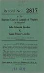 John Edwards Lowdon v. Annie Palmer Lowdon