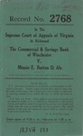 The Commercial & Savings Bank of Wincester v. Minnie E. Burton, et al.